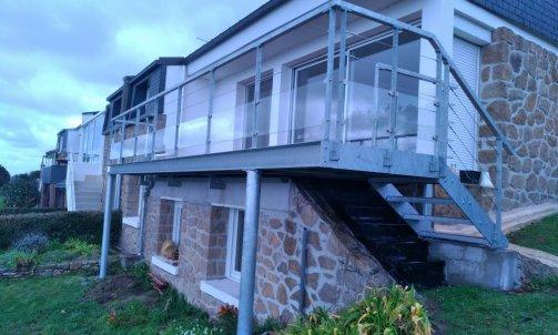 terrasse métallique ploubazlanec