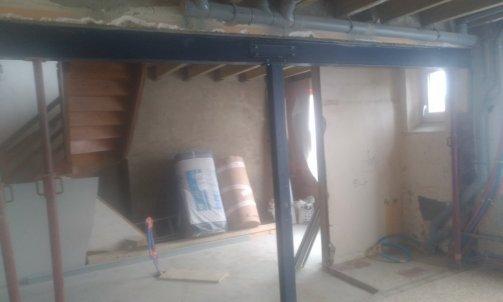 Création d'une ouverture dans un mur porteur