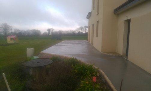 Terrasse béton surfacé